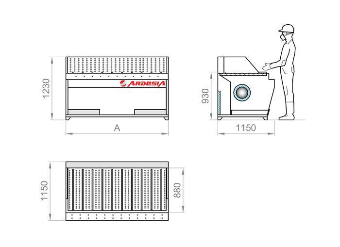 Technical scheme Dust Table E by Ardesia