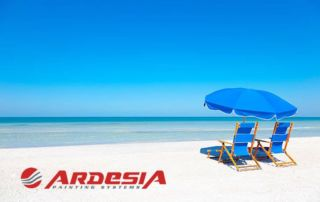 Ardesia summer closure painting systems production