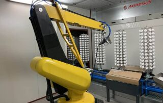 DAFO: floor conveyor, anthropomorphic robot, painting booth, drying oven by Ardesia