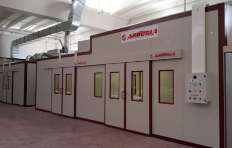 Impianto di verniciatura Borgo Antico Cucine (Caldarola Macerata Italia) - Progetti Ardesia