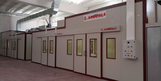 Borgo Antico Cucine painting plant (Caldarola Macerata Italy) - Ardesia projects