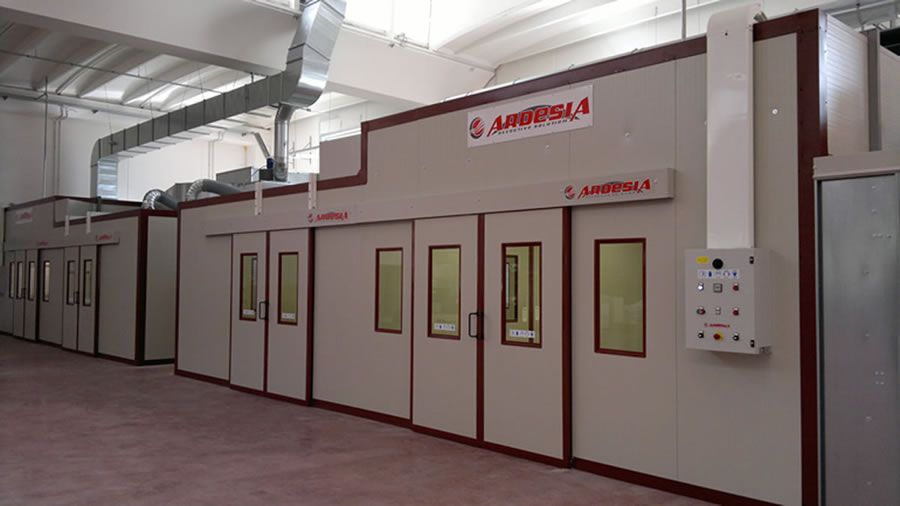 BORGO ANTICO CUCINE plant in Italy - Painting systems Ardesia s.r.l.