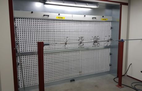 Beam semi-automatic painting system (Italy) - Ardesia projects